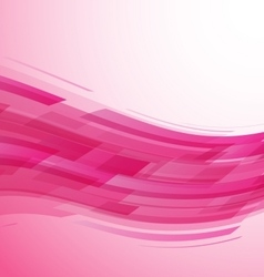 Abstract pink wave technology background vector