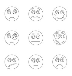 appearance icons set outline style vector image