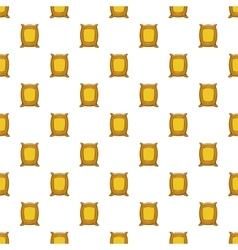 Bag of wheat pattern cartoon style vector image vector image
