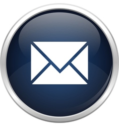 Blue mail icon vector image vector image