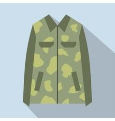 Camouflage jacket cartoon icon vector image vector image