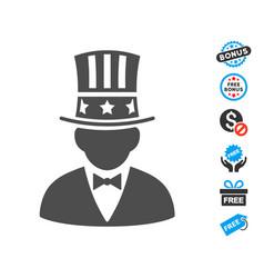 capitalist flat icon with free bonus elements vector image