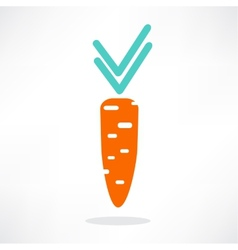 carrot yummy vector image vector image