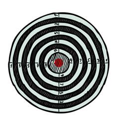 Cartoon image of target icon aim symbol vector