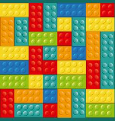 Colorful building toy bricks lego icon toy vector
