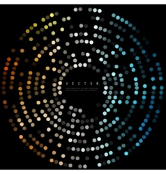 Colorful dots abstract background circles vector