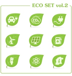 ecology icon set Vol 2 vector image vector image