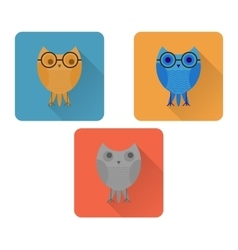 Flat owl icon vector