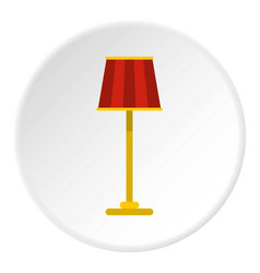 Floor lamp icon circle vector