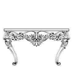 Imperial baroque chest table french luxury vector