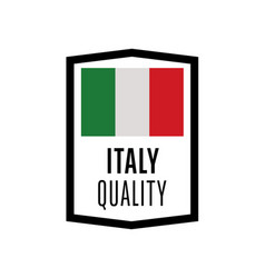 Italy quality isolated label for products vector