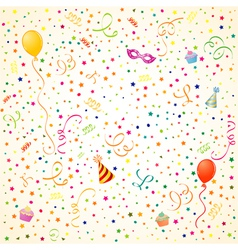 party time theme with balloons vector image vector image