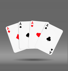 Poker hand of cards diamond spade heart vector