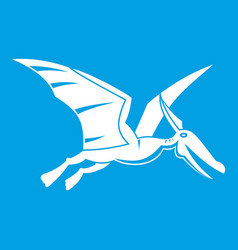 pterosaurs dinosaur icon white vector image vector image