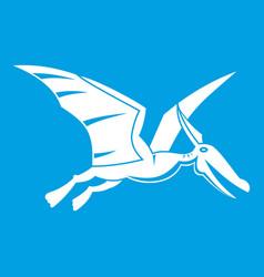 pterosaurs dinosaur icon white vector image