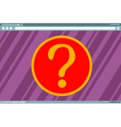 Question mark in frame on screen vector