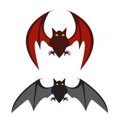 Red bat and black bat vector