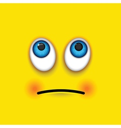 rolling eyes square emoji vector image