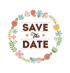save the date design vector image