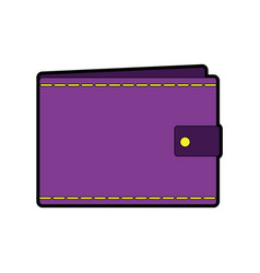 Wallet empty money business pocket icon vector
