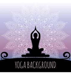 Yoga background vector