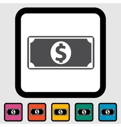 Dollar icon vector