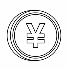 Japanese yen currency symbol icon outline style vector