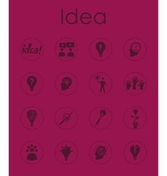 Set of idea simple icons vector