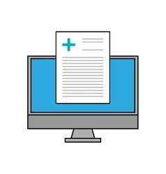 Computer and medical history design vector