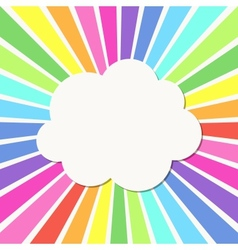 Cloud frame vector image