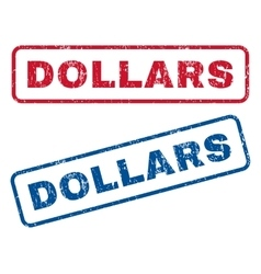 Dollars rubber stamps vector