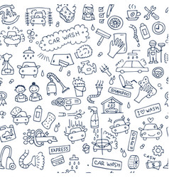 car washing seamless pattern for your design vector image