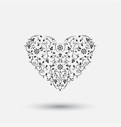 Ornamental heart - floral design vector