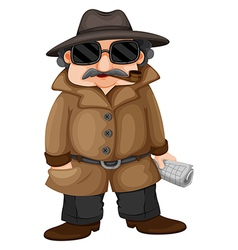 A detective vector image