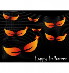 Halloween spooky eyes vector