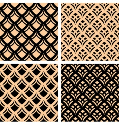 Graphic patterns set vector