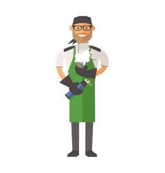 Molecular kitchen chef vector