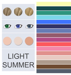 Stock seasonal color analysis palette vector