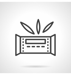 Waffle bar simple line icon vector