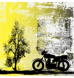 Motorbike grunge background vector
