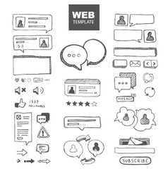 Web chat dialogs vector