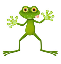 a goggle-eyed frog vector image vector image