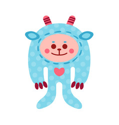 cute cartoon monkey animal toy colorful vector image vector image
