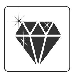 Diamond icon 3 vector