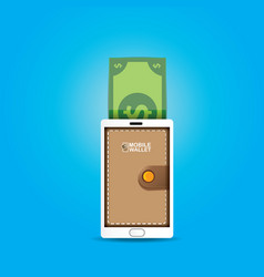 Digital mobile wallet concept icon vector