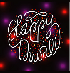 Diwali the indian festival of lights greeting card vector