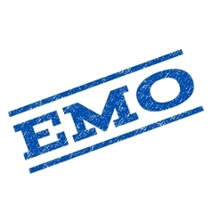 Emo watermark stamp vector