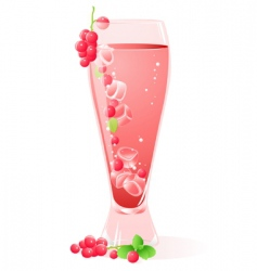 fruit drink vector image vector image