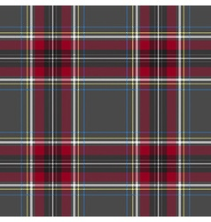 Gray red check tartan textile seamless pattern vector