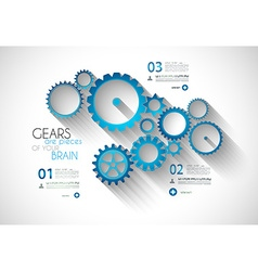 Infographic Modern Style Concept background vector image vector image